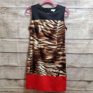 Calvin Klein Animal Print Dress Size 8 NWOT